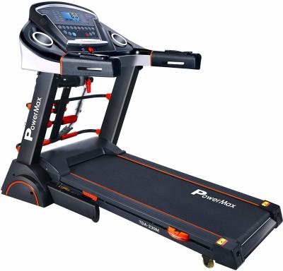 Powermax Fitness TDA-230M (2.0 HP), Semi-Auto Lubrication, Motorized Treadmill with Massager, Dumbbells, Sit-up & Twister Treadmill