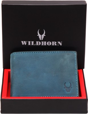 WildHorn Men Black, Blue Genuine Leather Wallet