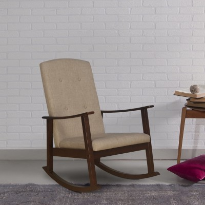 DZYN Furnitures Solid Wood 1 Seater Rocking Chairs(Finish Color - Brown)