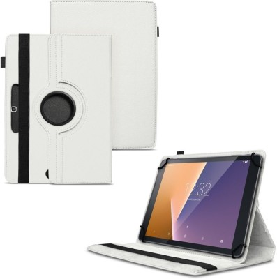 TGK Flip Cover for Micromax Canvas Plex Tab 32 GB 8 inch with Wi-Fi+4G Tablet with Rotating Leather Stand Case(White, Shock Proof)