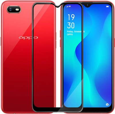 Hupshy Edge To Edge Tempered Glass for Oppo A1k(Pack of 1)