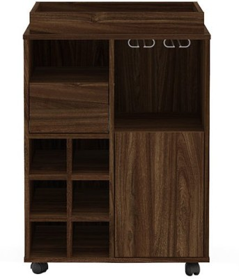 Furn Central Engineered Wood Bar Cabinet(Finish Color - Imbuia)