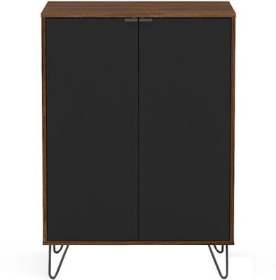 Furn Central Engineered Wood Bar Cabinet(Finish Color - Black, Brown)