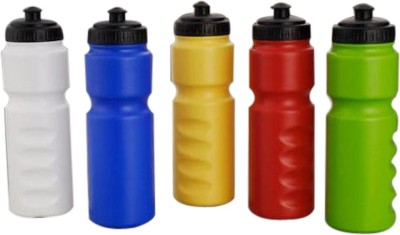 Bumbhol Dumbbell Sipper Multicolor Water Bottle set of 5 750 ml Sipper(Pack of 5, Multicolor)