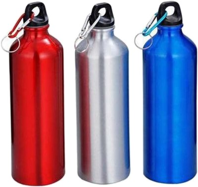 Bumbhol Stainless Steel Multicolor Water Bottle Set of 3 750 ml Bottle(Pack of 3, Multicolor)