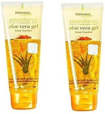 Patanjali Saundarya Aloe Vera Gel Kesar Chandan Face Wash (60ML,Pack Of 2)