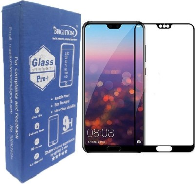 BRIGHTRON Edge To Edge Tempered Glass for Huawei P20 Pro Screen Protector, Anti Blue Light [Eye Protect] 9H Hardness 3D Touch Compatible Shockproof Anti-Scratch, Tempered Glass for Huawei P20 Pro (11D Glass) Black(Pack of 1)