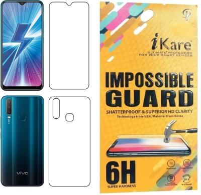 iKare Front and Back Screen Guard for Vivo Y15, Vivo Y17, Vivo Y12, Vivo U10(Pack of 2)