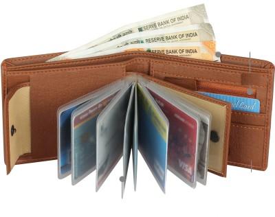 SAMTROH Men Tan Artificial Leather Wallet(8 Card Slots)