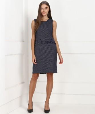 Arrow Women Shift Blue Dress