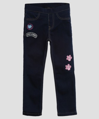 Miss & Chief Jegging For Girls(Dark Blue, Pack of 1) at flipkart