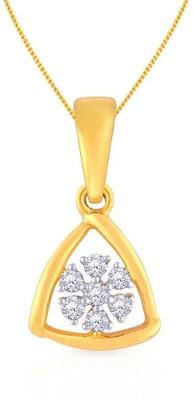 Malabar Gold and Diamonds AJPENSP0423 18kt Diamond Yellow Gold Pendant
