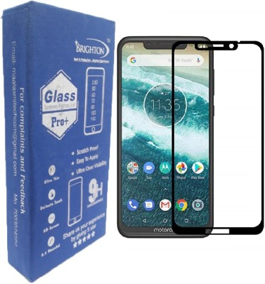 BRIGHTRON Edge To Edge Tempered Glass for Full Glue, Edge to Edge 11D Tempered Glass Screen Guard Gorilla Protector for Motorola Moto One Power (Black) (11D TEMPERED GLASS)(Pack of 1)