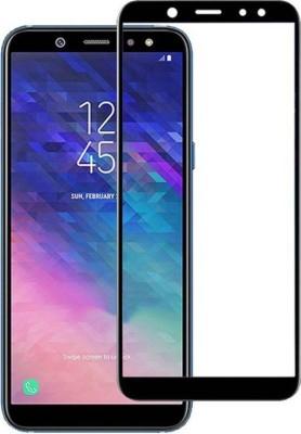 360 pro Edge To Edge Tempered Glass for samsung galaxy a8 plus tempered glass, samsung galaxy a8 plus tempered glass full glue black(Pack of 1)