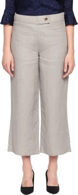 Biba Regular Fit Women Gold Trousers
