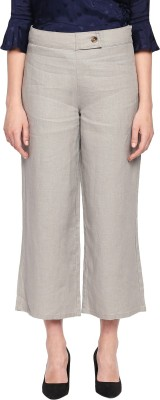 Annabelle by Pantaloons Regular Fit Women Grey Trousers