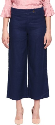 Annabelle by Pantaloons Regular Fit Women Dark Blue Trousers