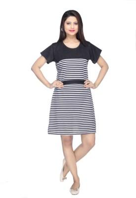 FTC FASHIONS Women A line Black Dress