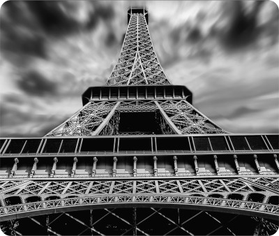 GRAPHICGIFT Anti-Skid Eiffel Tower Printed Mouse Pad For Gaming And Office Use Mousepad(Multicolor)