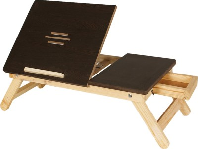 Buy Again Foldable Wood Portable Laptop Table(Finish Color - Dark Brown)