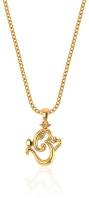 P.N.Gadgil Jewellers Omkar 22kt Yellow Gold Pendant