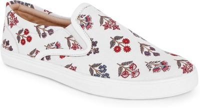 Kanvas Slip On Sneakers For Men(White)