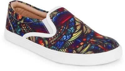 Kanvas Slip On Sneakers For Men(Multicolor)
