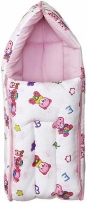 Zahuu 3 in 1 Multi Usage Baby Cotton Bed Cum Sleeping Bag Sleeping Bag(White, Pink)