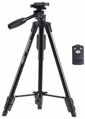 FD1 5208 Professional Lightweight Aluminum Portable Tripod(Black, Supports Up to 1500 g) 1