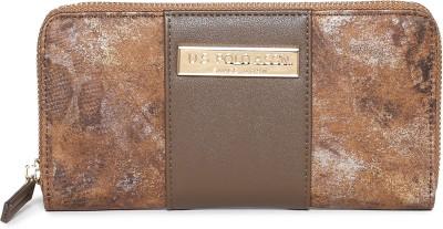 U.S. POLO ASSN. Women Casual Brown Artificial Leather Wallet 3 Card Slots U.S. POLO ASSN. Wallets