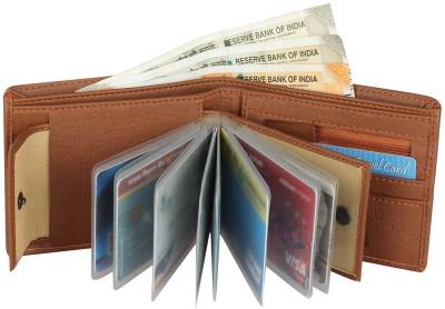 Wildedge Men Tan Artificial Leather Wallet(9 Card Slots)