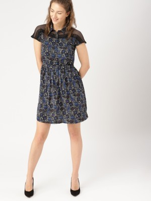 Dressberry Women A-line Black Dress at flipkart