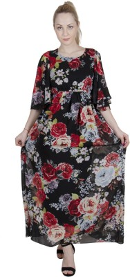 G   M Collections Women Maxi Multicolor Dress