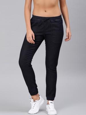 HRX by Hrithik Roshan Jogger Fit Women Dark Blue Jeans at flipkart
