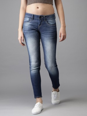 HERE&NOW Skinny Women Blue Jeans at flipkart