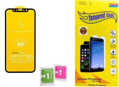Express Buy Edge To Edge Tempered Glass for Samsung galaxy M10 (11D 9H Full Glue)(Pack of 1)