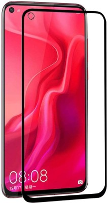 True Desire Tempered Glass Guard for Full Body 9H Tempered Glass, Full Edge-to-Edge Screen Protector for Honor View20 - (Black) with Free Installation Kit