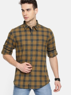 Roadster Men Checkered Casual Multicolor Shirt at flipkart