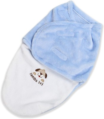 Bembika Organic Cotton Baby Swaddle Cocoon Sack | The Simple Swaddle Sleeping Bag(Blue)