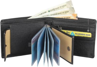 SAMTROH Men Black Artificial Leather Wallet(8 Card Slots)
