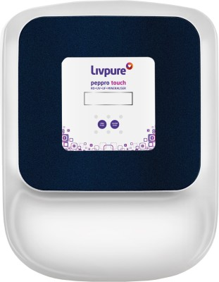 Livpure LIV-PEP-PRO-TOUCH 8.5 L RO + UV + UF Water Purifier White, Blue