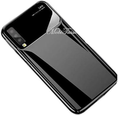 MobiTussion Back Cover for Samsung Galaxy A7 (2018) (Black) Sleek Glossy Camera Protection Hard PC Mirror Finish(Black, Shock Proof)