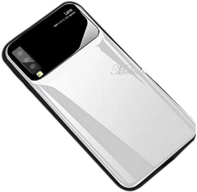 MobiTussion Back Cover for Samsung Galaxy A7 (2018) [White] Glossy Camera Protection Hard PC Mirror Finish Back Case Cover(White, Shock Proof)