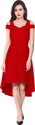 ILLI LONDON Women High Low Red Dress