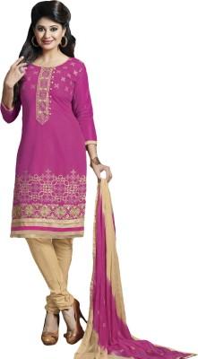 Fabpandora Cotton Blend Embroidered Salwar Suit Material(Semi Stitched) at flipkart