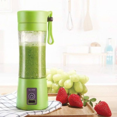 Jevascot Portable USB Juicer Bottle Blender 17 MultiColor 240 Juicer Mixer Grinder(Green, 1 Jar)