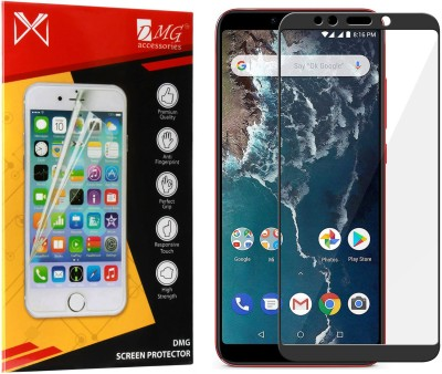 DMG Edge To Edge Tempered Glass for Mi A2(Pack of 1)