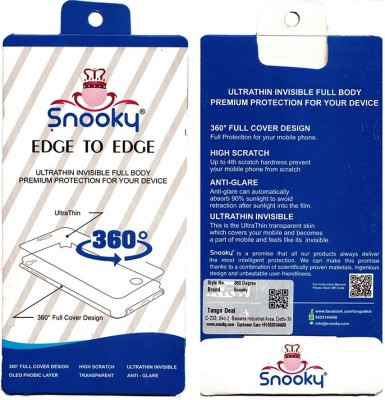 Snooky Front and Back Screen Guard for HTC One X9(Pack of 1)