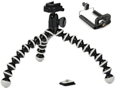 MobFest new arrival fully flexible Portable & Foldable Camera & Mobile Tripod Tripod Ball Head(Black, Supports Up to 1500 g) 1
