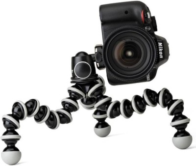 """Czech Best buy new arrival fully flexible Portable & Foldable Camera & Mobile Tripod with Mobile Clip Holder Bracket Fully Flexible Mount Cum Tripod Stand with Three-Dimensional Head & Quick Release T2 Plate Gorilla Tripod 10"""" - DSLR , Smartphone & Action Cameras mobile holder Octopus Stand/mobile H"""